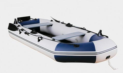 bote inflable gomon 4 personas con espejo motor y chalecos