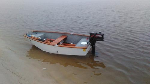 bote o dingy multiproposito vela, remo y motor con trayler