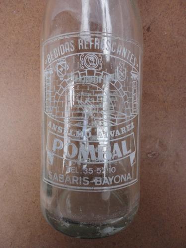 botella antigua de vidrio estado impecable española -