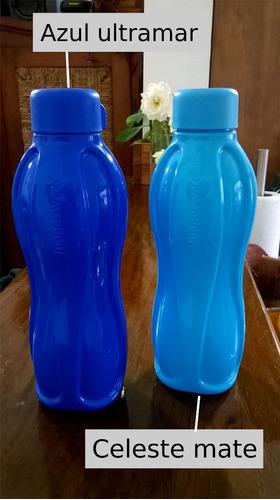 botella de plástico rosca tupperware variedad de colores