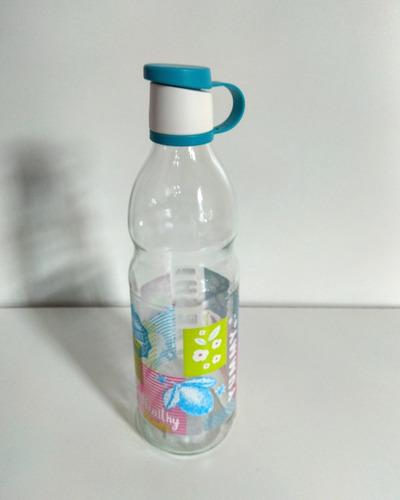 botella de vidrio con cierre hermético de plástico 750 ml