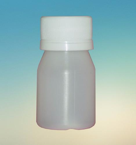 botella plástico polietileno 30cc color tapa rosca elección.