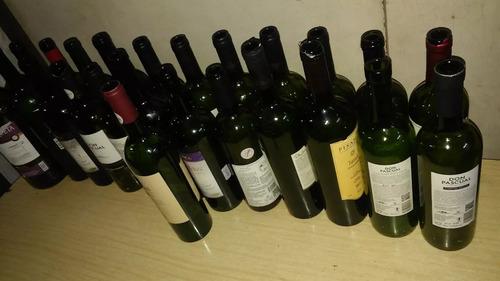 botellas de vino verdes - vacias (b786)
