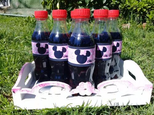 botellas  linea coca 250ml y agua 600 personalizadas