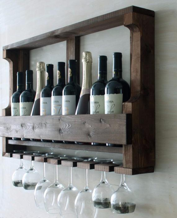 Botelleros Rústicos Madera Bar Mueble Vinos Copero Envíos