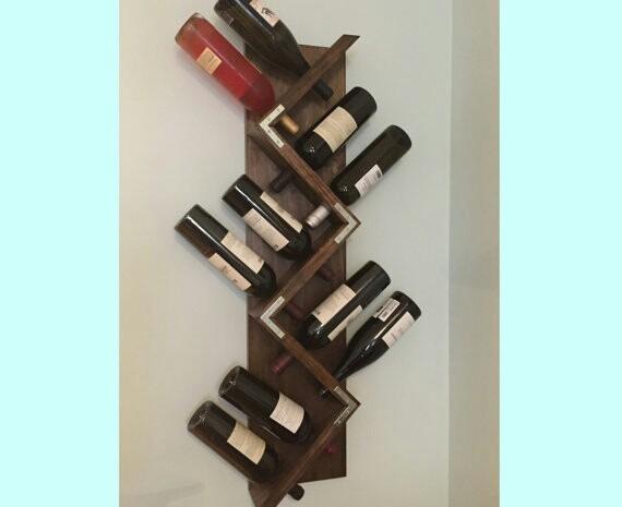 Botelleros r sticos madera bar mueble vinos copero env os en mercado libre - Botelleros para bares ...
