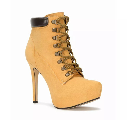 botines andrea moda amarillos & rojos oferta mod. 8044 sh+