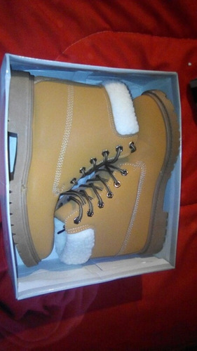 botitas botas corderito dama 37