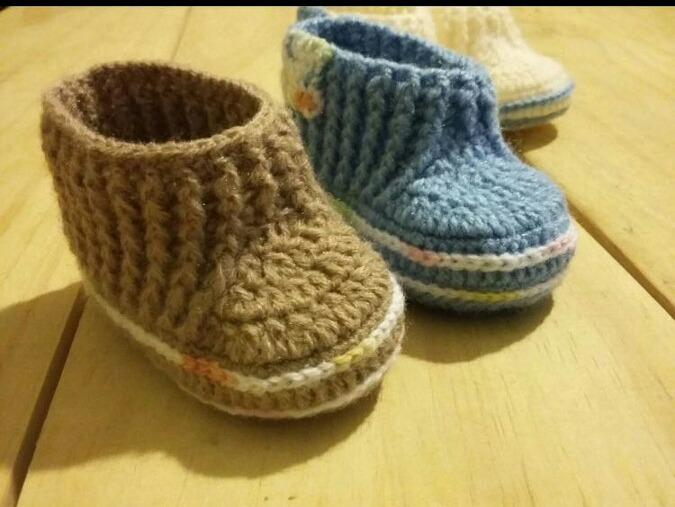 2c5888dab Botitas Escarpines De Crochet Para Bebé - $ 180,00 en Mercado Libre