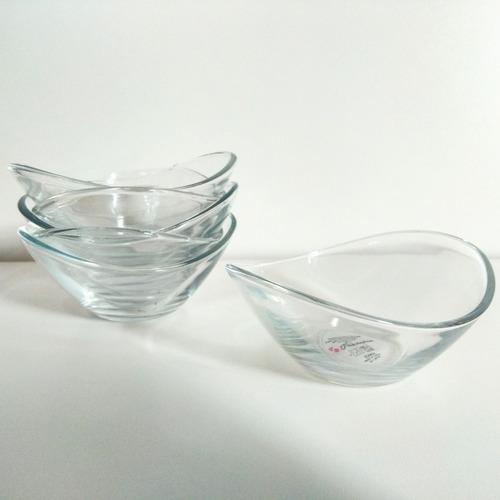 bowl de postre en vidrio, set x 4