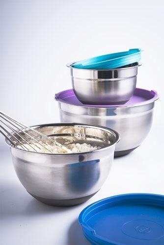 bowls para guardar en la heladera acero inoxidable con tapa