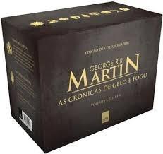 box dourado crónica de gelo e fogo edição de colecionador .