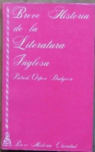 breve historia de la literatura inglesa