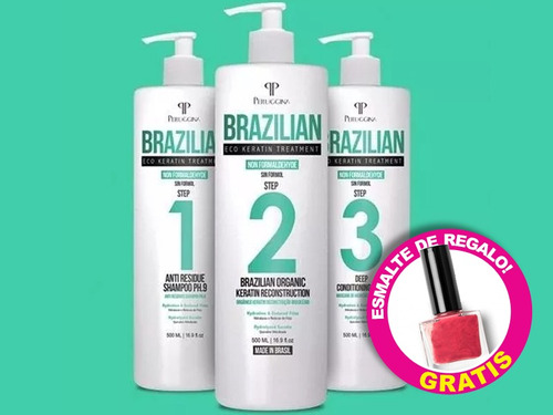brushing progresivo brazilian sin formol 500ml envio gratis