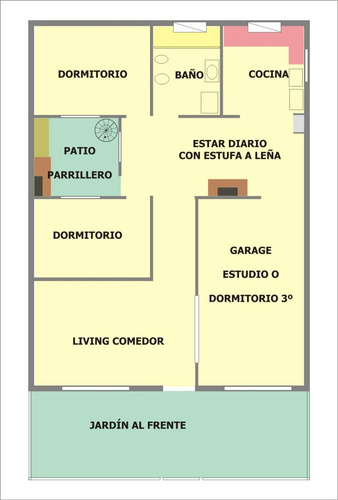 buena ubicación! garage para 2 autos! patio con parrillero!