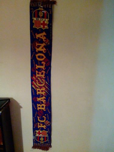 bufanda original fútbol del fc barcelona. suárez messi