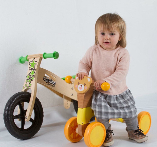 buggy bici chivita de madera para niño juguete