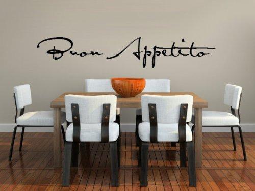 Buon Appetito Vinyl Vinilo Decorativo Para Comedor O Coci