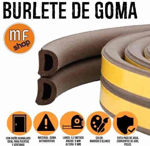 Burlete de goma autoadhesivo 9 mm x 5 2 mts suprabond puerta 319 00 en mercado libre - Burletes de goma para puertas exteriores ...