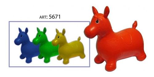 burrito saltarin inflable varios colores juguete burro