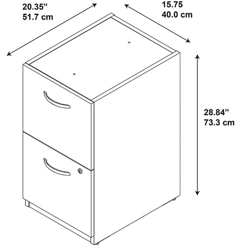 bush business furniture series c elite 16w 2 drawer