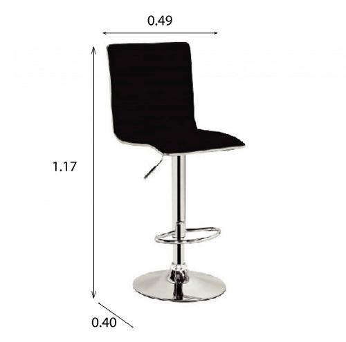 butaca alta silla moderna tapizada negro mlm620033