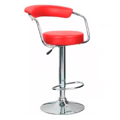 butaca eco cuero con respaldo - silla taburete banqueta bar