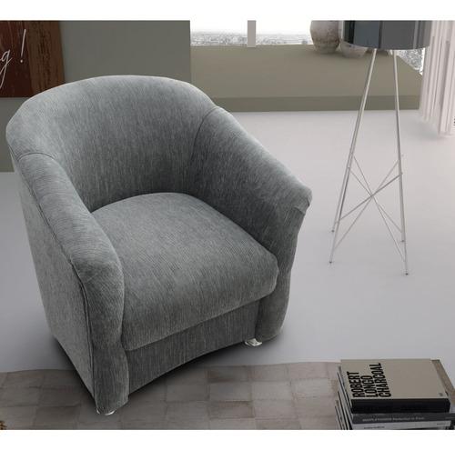 butaca living sillon sofa roma gris