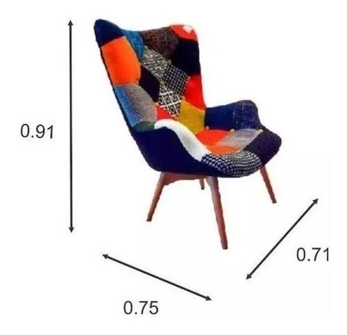 butaca sillon sofa diseño patchwork tba estampada