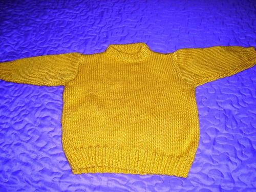 buzo  bebe de lana nuevo 6 meses color amarillo mostaza