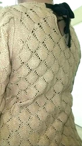 buzo mujer con perlitas..hermoso!