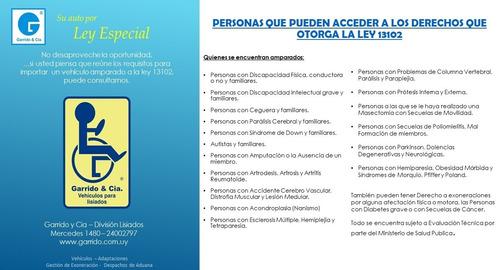 byd s5 para personas con discapacidad. ley 13102