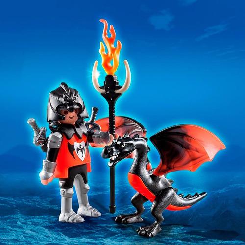 caballero con dragón - playmobil