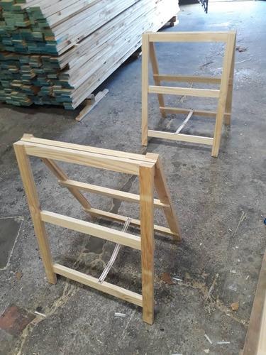 caballetes de madera reforzados. directos de fabrica.