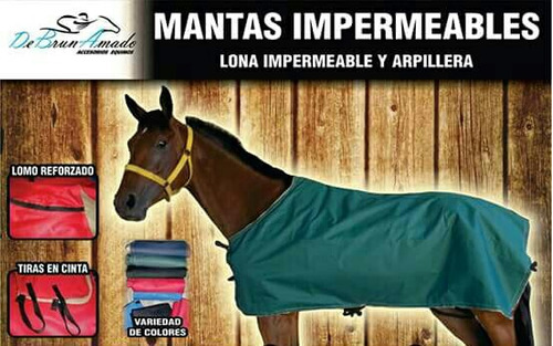 caballo - manta lona impermeable y arpillera, intemperie!!