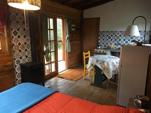 cabaña alquiler entre el monte nativo efeso villa serrana