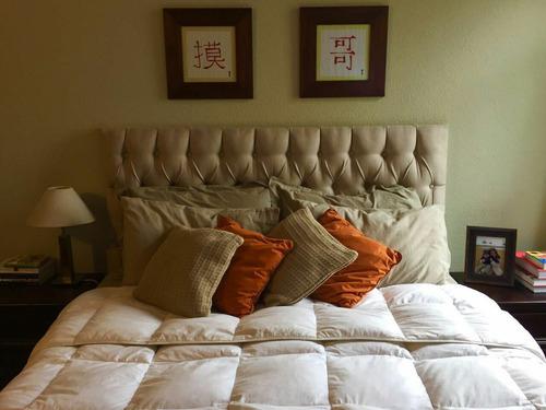 cabecera respaldo sommier cama capitoneado o con costuras