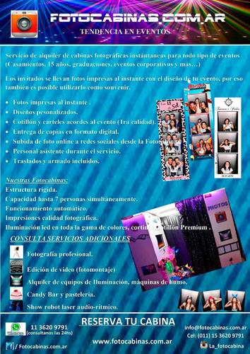 cabina de fotos instantánea . la fotocabina