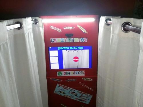 cabina fotografica tarjeta de credito