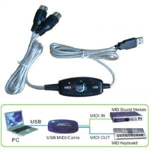 cable adaptador usb a interface de teclado pc midi laptop