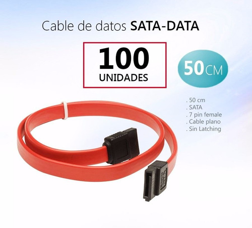 cable datos sata pack de 100 unidades pcm