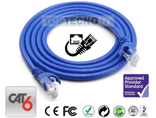 cable de red ethernet rj45 utp cat6 15 metros mts d fabrica