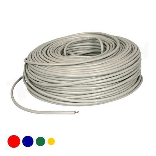 cable de red utp 50 metros con fichas rj45 todociber