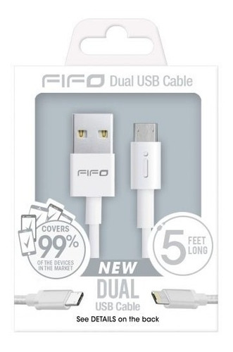 cable dual micro usb android y iphone, rosas hermanos merced