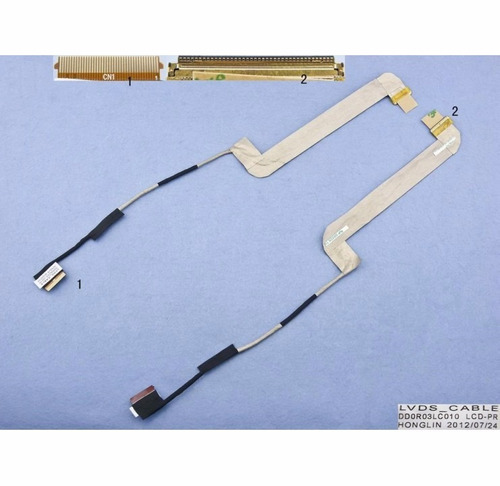 cable / flex lcd para notebook dell n7110 17r