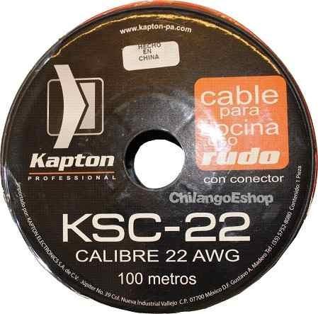 cable para bocina uso rudo polarizado calibre 22 100 mts
