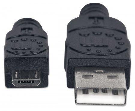 cable usb 2.0 a microb macho/macho 0,5 mts manhattan