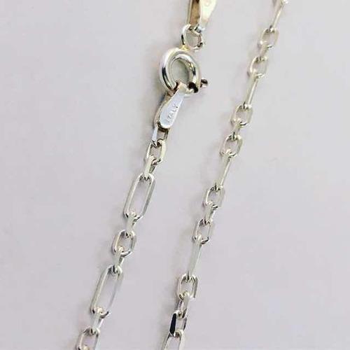 cadena cartier y forcé 3 y 1 en plata 925 de 45 cm de largo