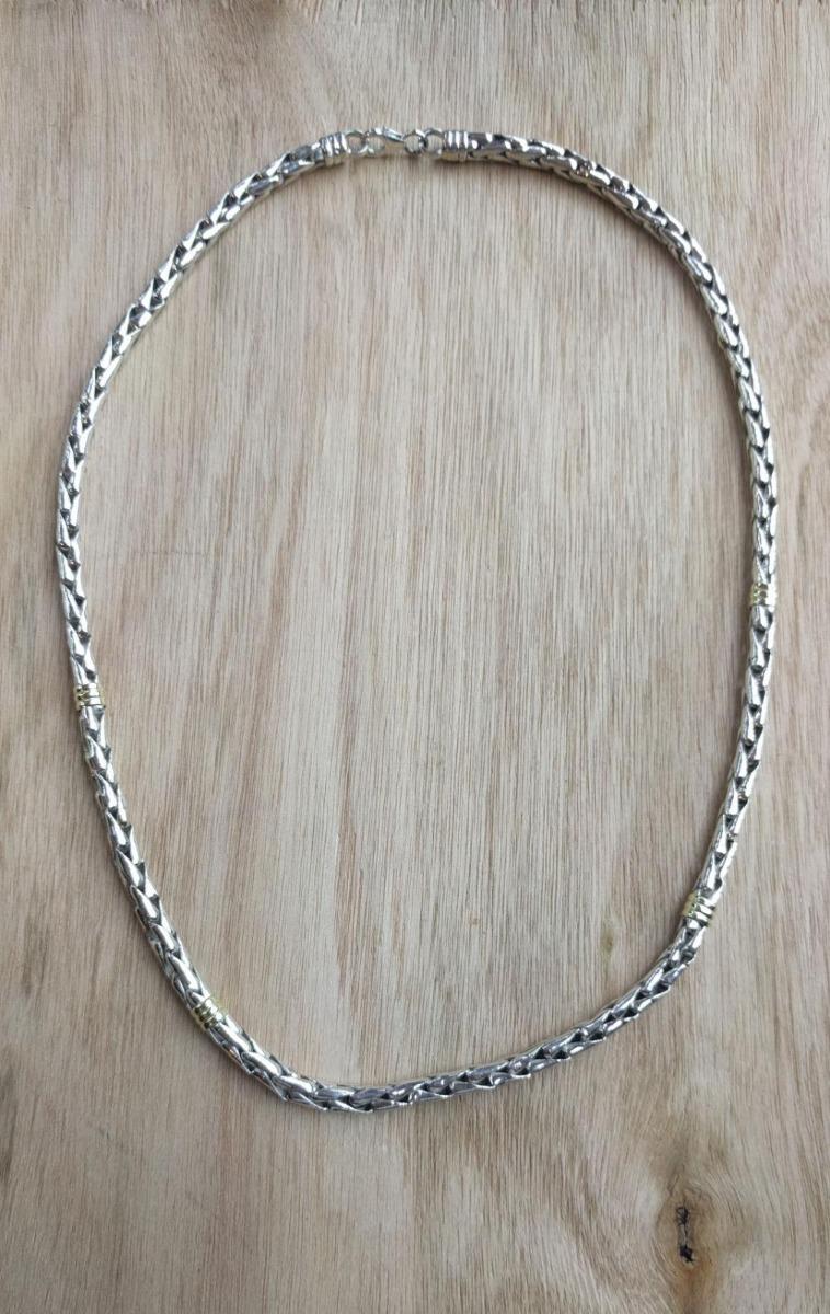 76d0fd089e48 cadena gruesa tipo cordón en plata 925 y oro -32. Cargando zoom.