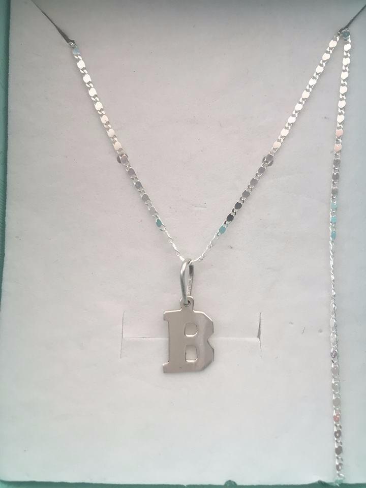 4ca8866565f1 cadena y dije inicial b en plata. Cargando zoom.